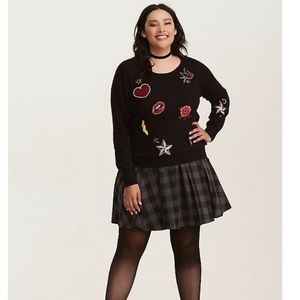 Torrid Embellished Patch Pullover Sweater